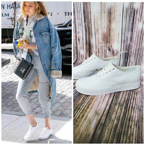 Keds Original Washable White Leather Sneaker